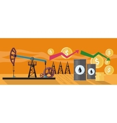 Graphic Changes in Oil Prices Production vector