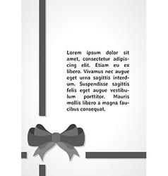 Gray elegant bow dark infographics vector