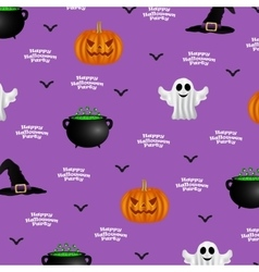 Halloween pattern on a purple background vector image