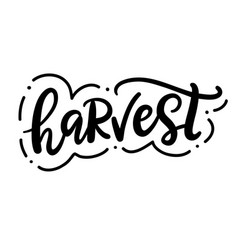 Harvest fest typography poster with hand lettering vector