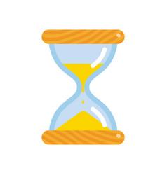 hourglass icon flat style sandglass vector image