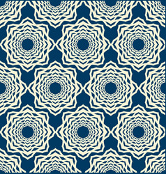 Lace seamless pattern with symmetry elements vector