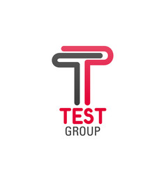 logo for test group company vector image