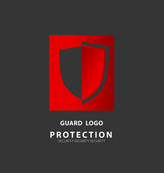 logo security company emerald shield for vector image