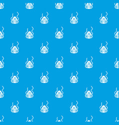 Mask protection pattern seamless blue vector