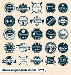 Mixed Sport Labels vector image