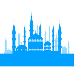Mosque with towers the place of the muslim faith vector