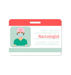 Narcologist medical specialist badge vector