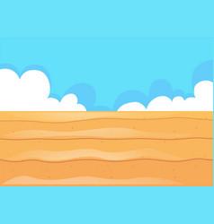 nature scene with desert field vector image