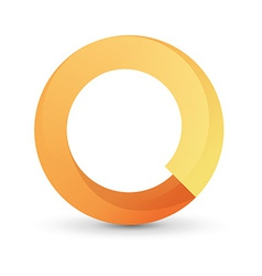 Orange tape round form vector image