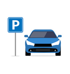 Parking car spot lot car park icon front vector