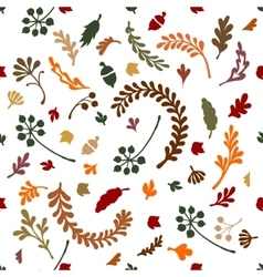 Pattern of leaves and plants vector image