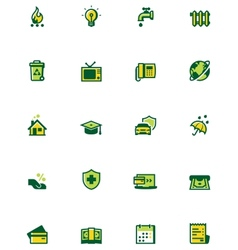 Paying bills icon set vector image