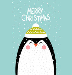 Penguin in a scandinavian style vector