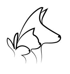 Pets heads logo vector