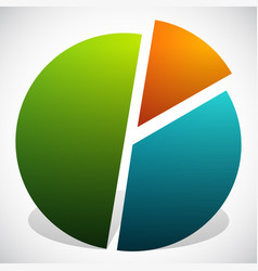 Pie chart graphics pie chart pie graph element vector