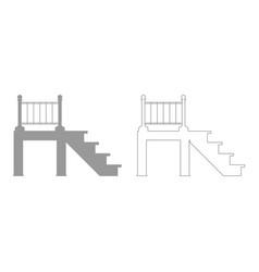 Porch set icon vector
