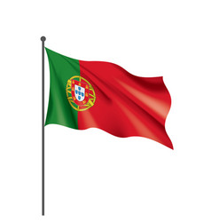 portugal flag on a white vector image