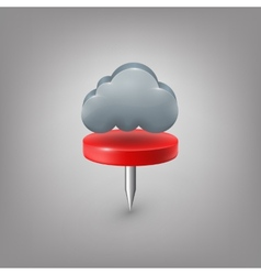 Red pin icon weather Cloud vector