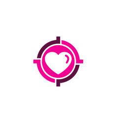 Romantic target logo icon design vector