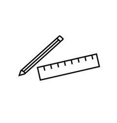 school materials icon vector image