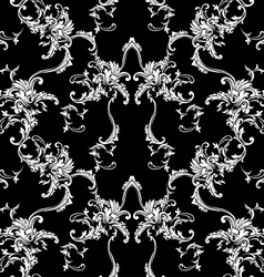 Seamless background Baroque pattern vector image