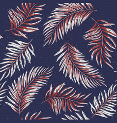 Seamless pattern of a tropical palm tree jungle vector