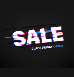 shopping sale banner black friday offer vector image