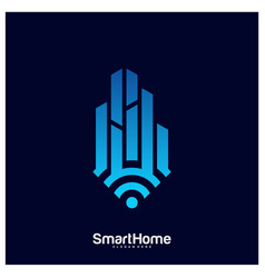 Smart city tech logo city net logo concept wifi vector