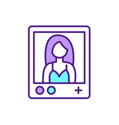 social media networks rgb color icon vector image