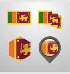 sri lanka flag design set vector image