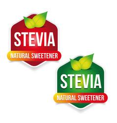 stevia natural sweetener label vector image