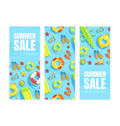 summer sale banner templates set shop now vector image