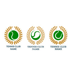tennis club emblem set vector image
