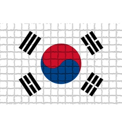 The mosaic flag of Republic of Korea vector