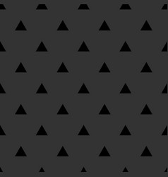 tile pattern with black triangle print on grey vector image