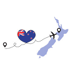 travel to new zealand airplane concept vector image