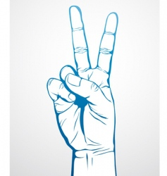 Victory sign vector