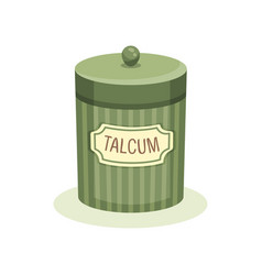 Vintage design of green jar with talcum container vector