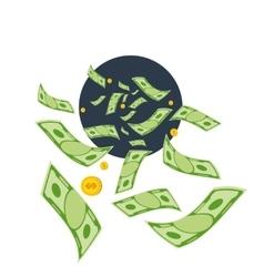 Waste money vector