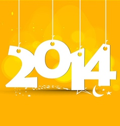 white tags with on orange happy new year vector image