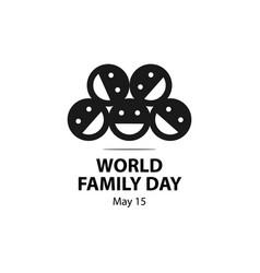 World family day template design vector