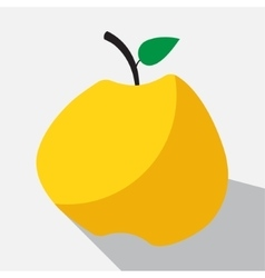 yellow apple and long shadow vector image