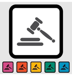 Auction icon vector image vector image