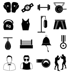 Boxing icons set vector image