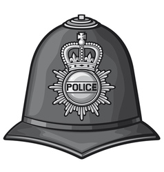 british police helmet vector image