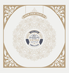 hipster card baroque ornaments and floral details vector image