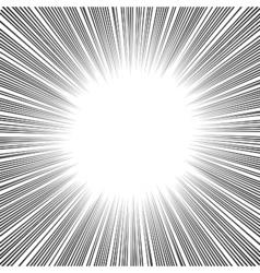Manga Comics Radial Speed Lines vector image