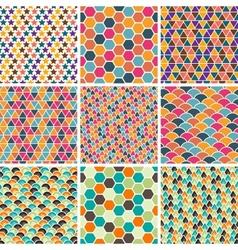 Retro Geometric Patterns vector image vector image