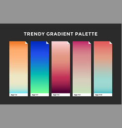 trendy gradient swatches vector image